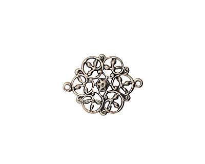 Stampt Antique Pewter (plated) Celtic Swirls Connector 18x13.5mm