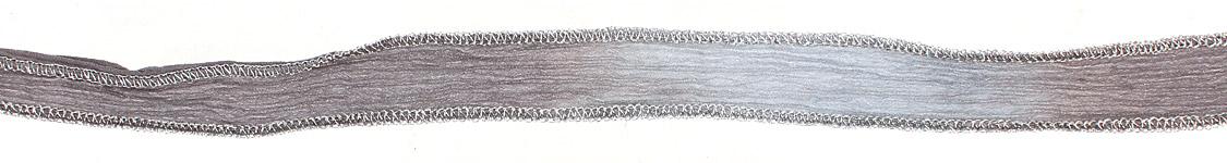 50 Shades of Gray Hand Dyed 100% Silk Ribbon 1/2