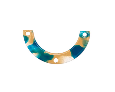 Zola Elements Tide Pool Acetate U-Shape Y-Connector 30x15mm