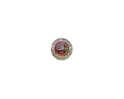 Czech Glass Electric Purple Shield Button 14mm