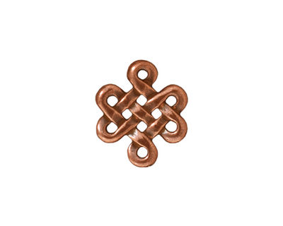 TierraCast Antique Copper (plated) Eternity Link 17x15mm