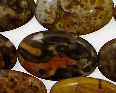 Tiger Jasper Flat Oval 30x20mm