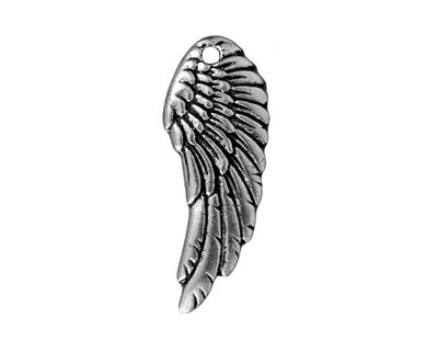 TierraCast Antique Silver (plated) Wing Pendant 10x27mm