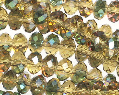 Iris Chartreuse Crystal Faceted Rondelle 6mm