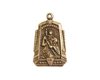 Nunn Design Antique Gold (plated) Protector Medallion 15x25mm