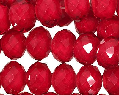 Transparent Burgundy Crystal Faceted Rondelle 14mm