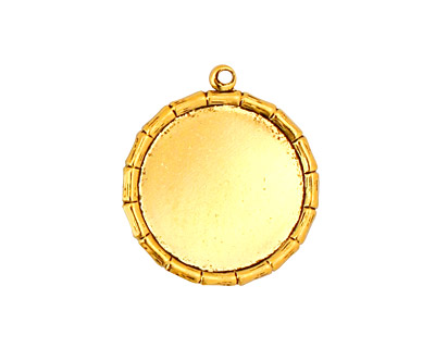 Stampt Antique Gold (plated) Bamboo Round Setting 18mm