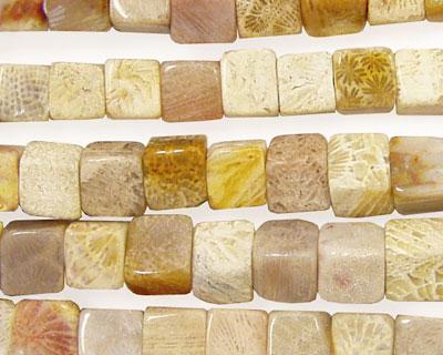 Fossil Jasper Cube 6mm