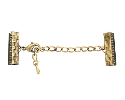 Artistic Wire Antique Brass Mesh Clasp (w/ Extension Chain & Lobster Clasp) 18mm
