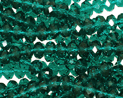 Winter Green Crystal Faceted Rondelle 6mm
