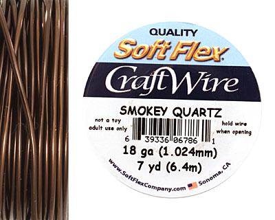 Soft Flex Smokey Quartz Craft Wire 18 gauge, 7 yards