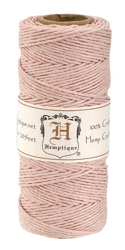 Powder Pink Hemp Twine 20 lb, 205 ft