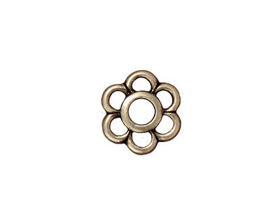 TierraCast Antique Brass (plated) 6 Petal Link 14mm