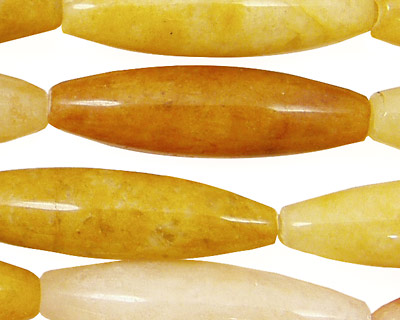 Yellow Jade (nat.) Rice 35x10mm