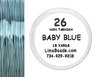 Parawire Baby Blue 26 Gauge, 15 Yards