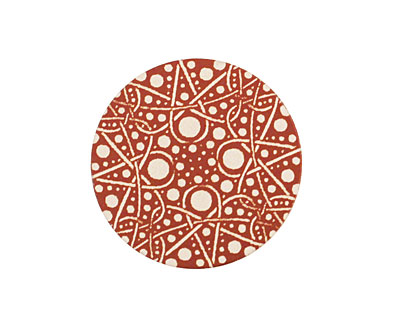 Lillypilly Bronze Geometrics Anodized Aluminum Disc 25mm, 24 gauge