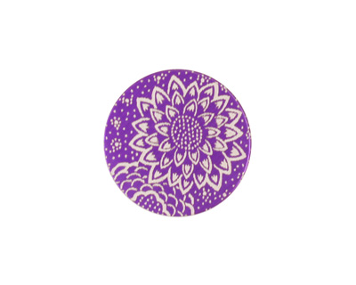 Lillypilly Purple Dahlia Anodized Aluminum Disc 19mm, 24 gauge