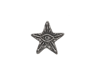 Green Girl Pewter Eye Star Button 15mm