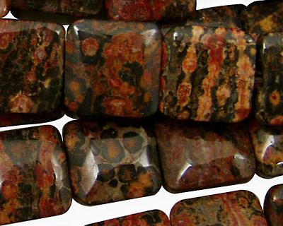 Leopardskin Jasper Puff Square 14mm