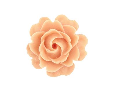 Matte Opaque Angel Skin Lucite Rose Cabochon 23mm