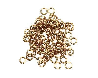 Artistic Wire Non-Tarnish Brass Chain Maille Jump Ring 3.57mm, 18 gauge