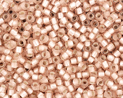 TOHO Rosaline (with Frosted Silver Lining) Round 8/0 Seed Bead