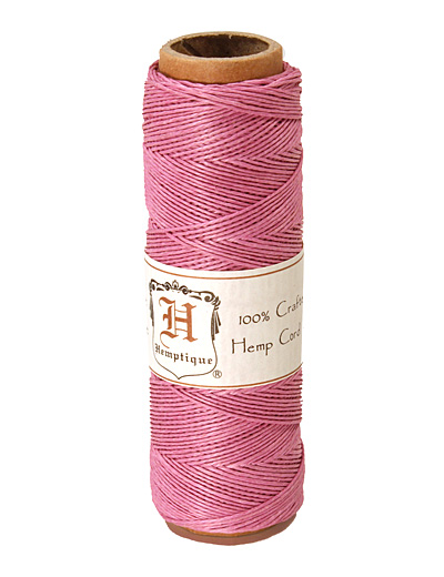 Light Pink Hemp Twine 10 lb, 205 ft