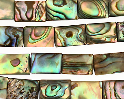Abalone Thin Pillow 12x8mm