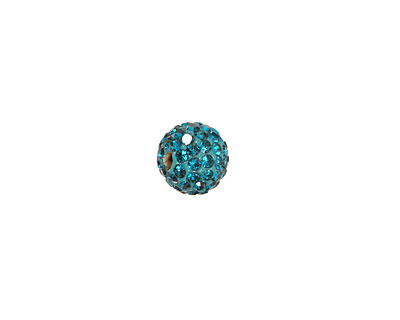 Teal Pave Round 8mm (1.5mm hole)