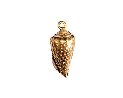 Nunn Design Antique Gold (plated) Conch Charm 10x24mm