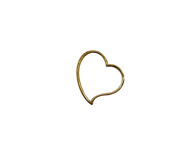 Stampt Antique Gold (plated) Cutout Heart 12mm