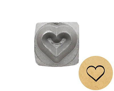 Heart Metal Stamp 5mm