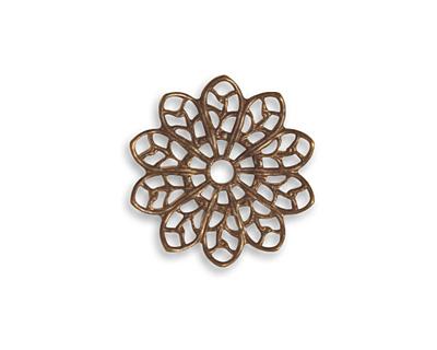 Vintaj Natural Brass Filigree Flower 20mm