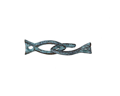 Greek Copper (plated) Patina Fish Hook & Eye Clasp 6x26mm