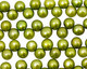 Olive Green Dancing Button 6-6.5mm