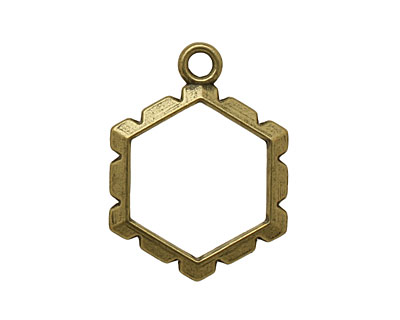Artistic Wire Antique Brass Hexagon Wrapper 18x24mm