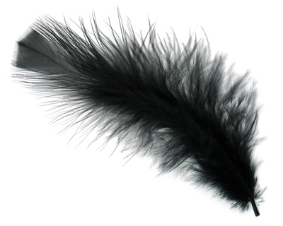 Ebony Turkey Flat Feather 100mm-152mm