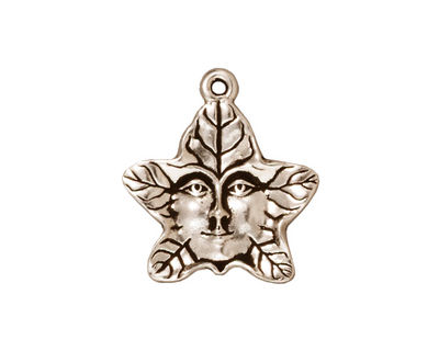TierraCast Antique Silver (plated) 2-Sided Tree Spirit Charm 19x20mm
