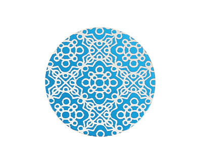 Lillypilly Turquoise Baroque Anodized Aluminum Disc 25mm, 24 gauge