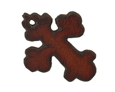 The Lipstick Ranch Rusted Iron Cross Pendant 30x37mm