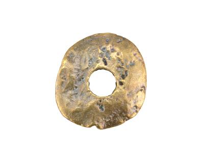Greek Antique Brass (plated) Large Disk 25mm
