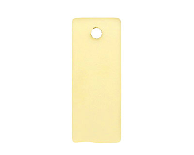 Desert Gold Recycled Glass Bottle Curve Rectangle 14x35mm