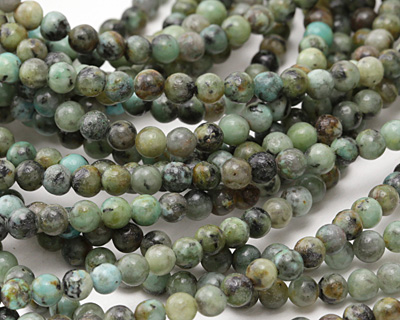 African Turquoise Round 4-4.5mm