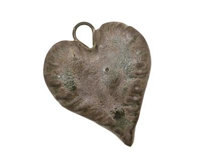 Gaea Ceramic Antique on Chocolate Tough Love Pendant 20x30mm