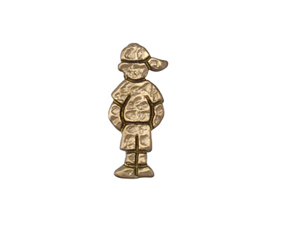 Patricia Healey Bronze Boy in Hat 10mm Flat Slide 9x21mm
