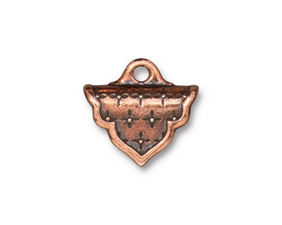 TierraCast Antique Copper (plated) Marrakesh Crimp End 17x18mm