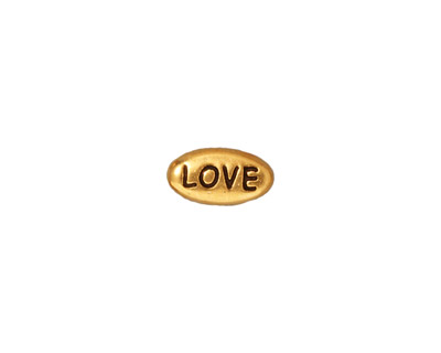 TierraCast Antique Gold (plated) Love Word Bead 11x6mm