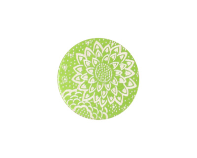Lillypilly Lime Green Dahlia Anodized Aluminum Disc 19mm, 24 gauge