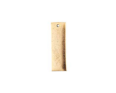 Nunn Design Antique Gold (plated) Flat Large Thin Tag 9x30mm