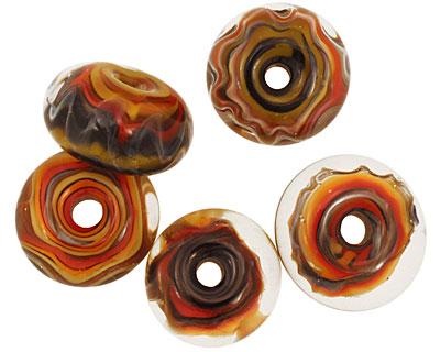 Sea Shore Glass Rainbow Boro Lampwork Glass 8-10x15-17mm